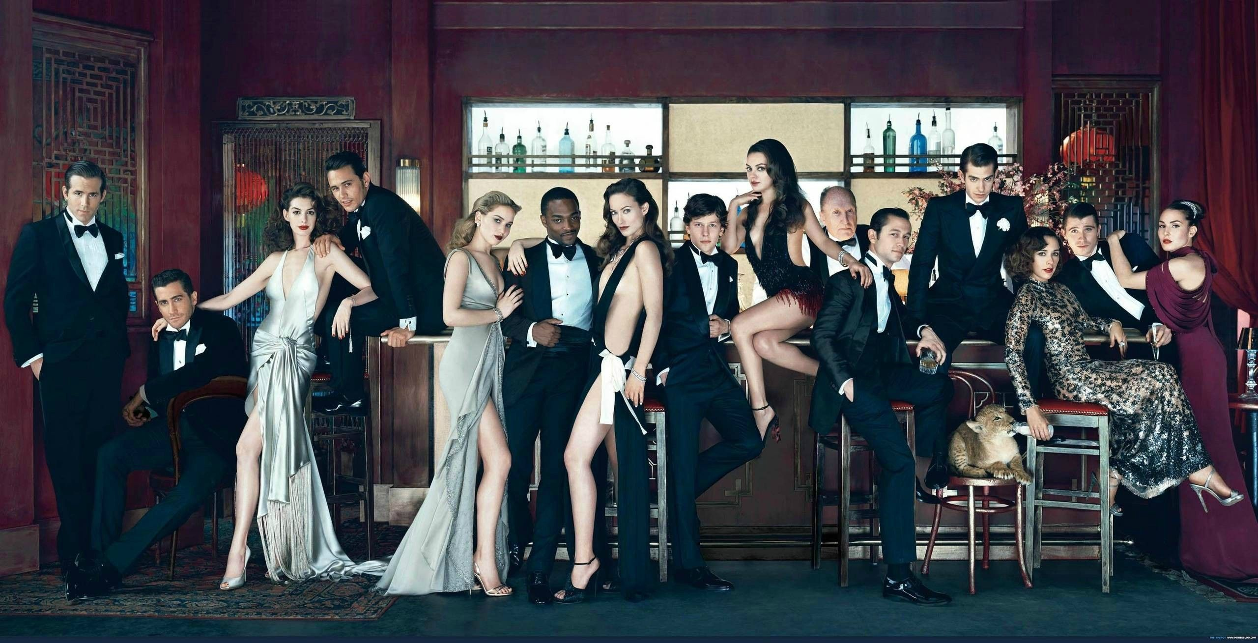 Hottest picture on the internet. Reynolds, Gyllenhall, Hathaway, Franco, Lawrence, Mackie, Wilde, Eisenberg, Kunis, Duvall, JGL, Garfield, R. Jones, Hedlund, Rapace