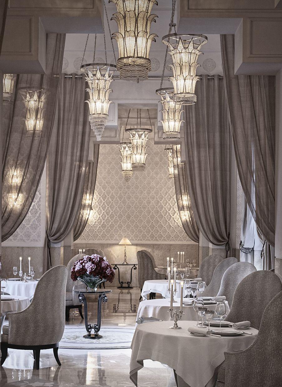Royal mansour la table restaurant decor elements for Hotel decor 2017