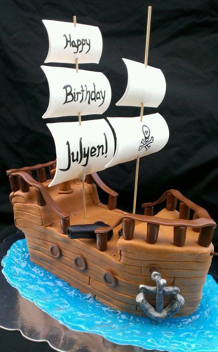 Avast It S A Pirate Ship Cake By Sugarbabycakes Cakesdecor