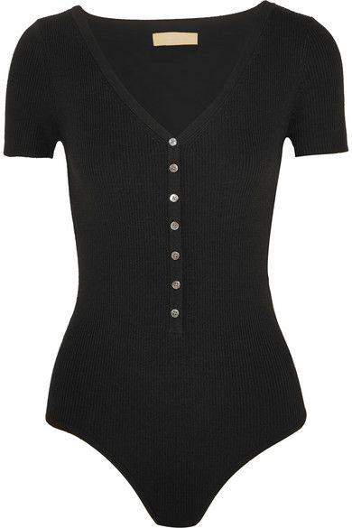 9cd82147650e MICHAEL KORS Ribbed Stretch Merino Wool-Blend Bodysuit.  michaelkors  cloth   tops