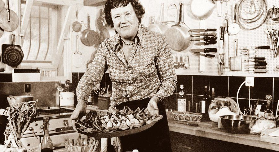 Julia Child's impact on cooking still resonates.On her 100th birthday,Julia Child's cooking style,personality still resonate...with gusto | By Chris Ross | 11:12 a.m. Aug. 14, 2012 | Updated, 11:12 a.m.   | In this 1978 photo, Julia Child shows off a salade nicoise she prepared in the kitchen of her vacation home in southern France.