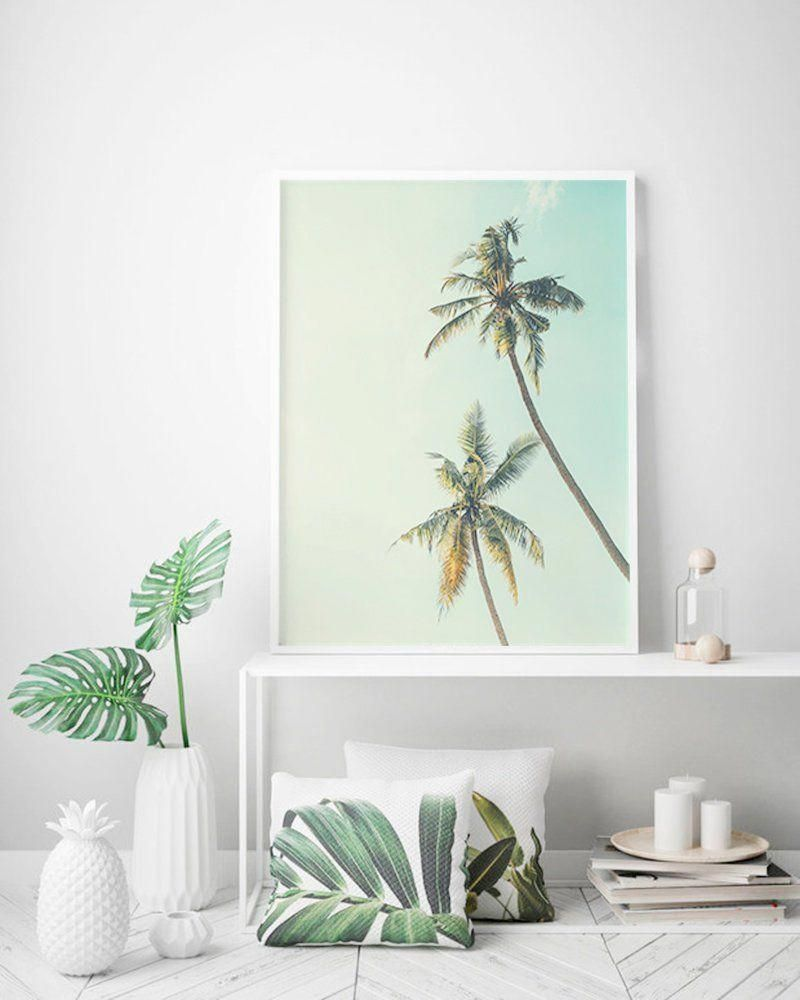 Live Plants Palm Leaf Summer Svg Palm Tree Print Living Room Decor California Wall Ar Coastal Decorating Living Room Coastal Room Decor Living Room Plants #palm #tree #for #living #room