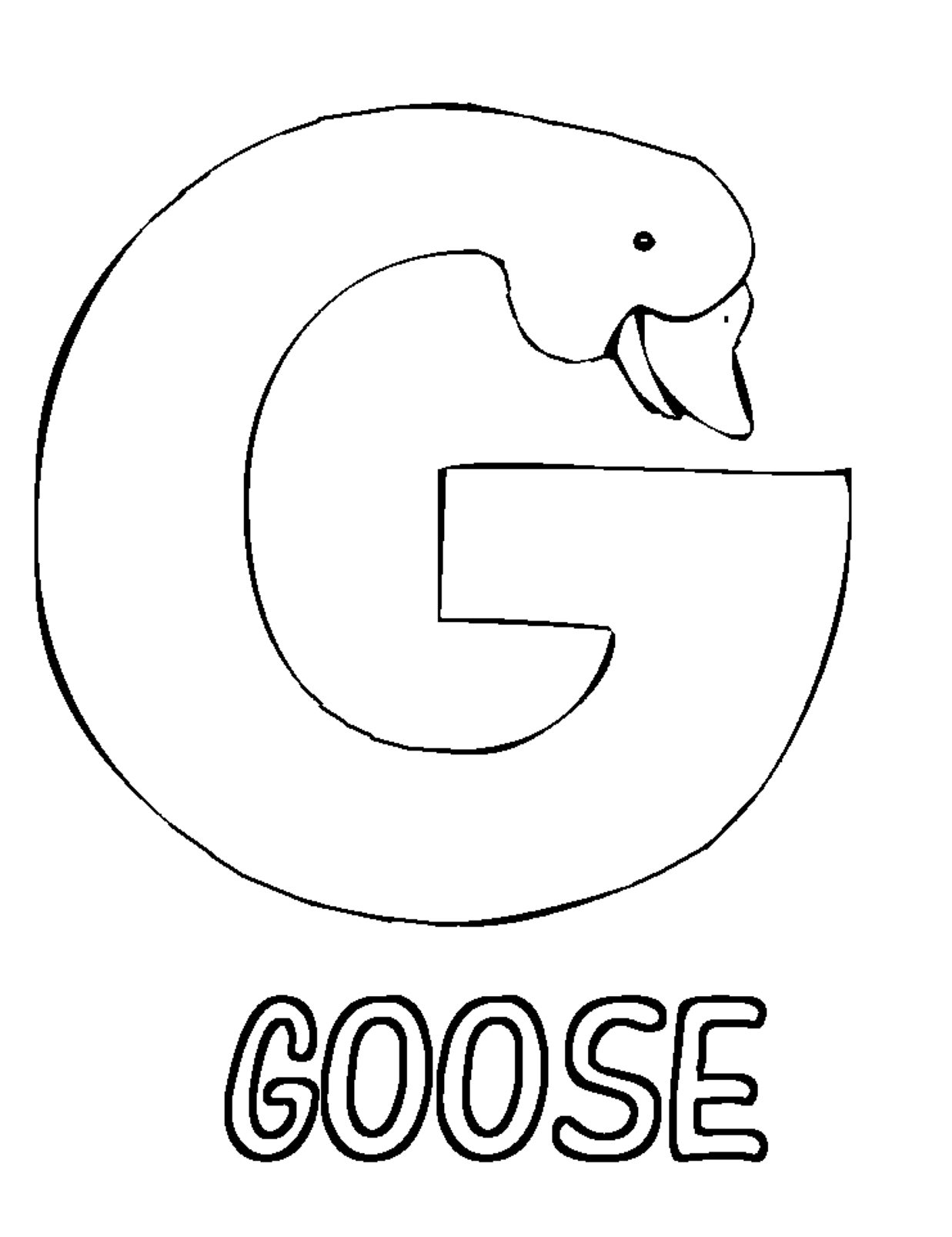 Download Or Print This Amazing Coloring Page Letter G