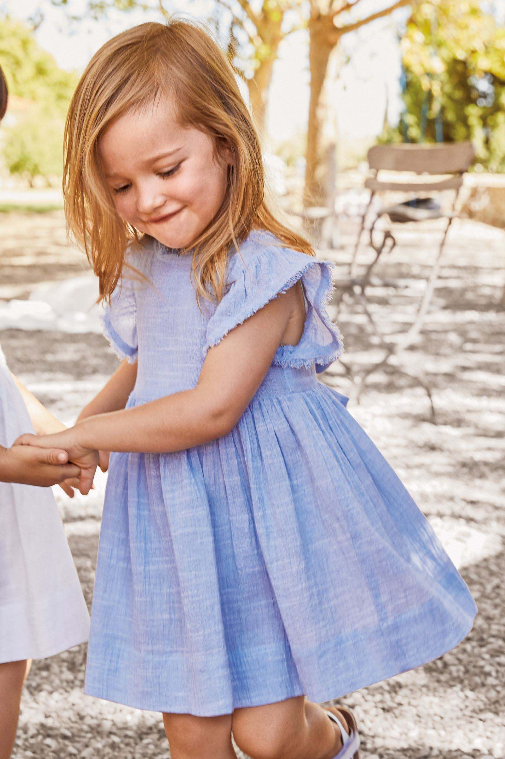 7b9df6aa6 Girls Next Blue Frill Sleeve Dress (3mths-6yrs) - Blue