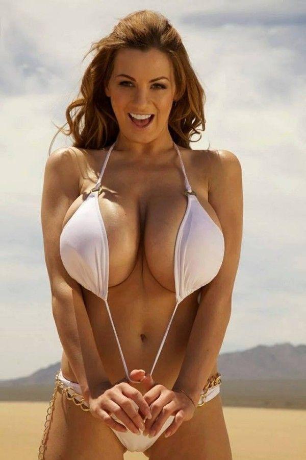 Busty girl in bikini
