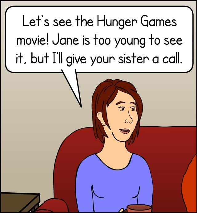 Going to the movies, we just need to get rid of this one last kid...   [Click for full comic]