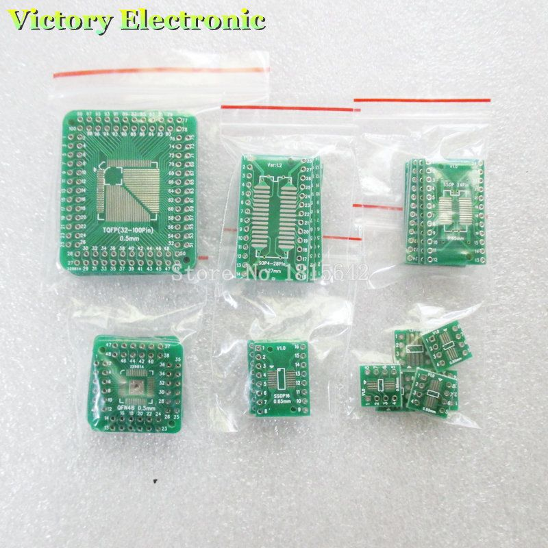 PcsLot Pcb Board Kit Smd Turn To Dip Adapter Converter Plate