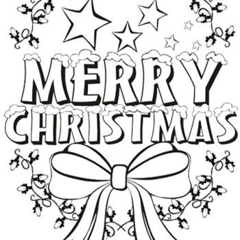 Santa Put Gift Under The Christmas Tree Coloring Page Coloring