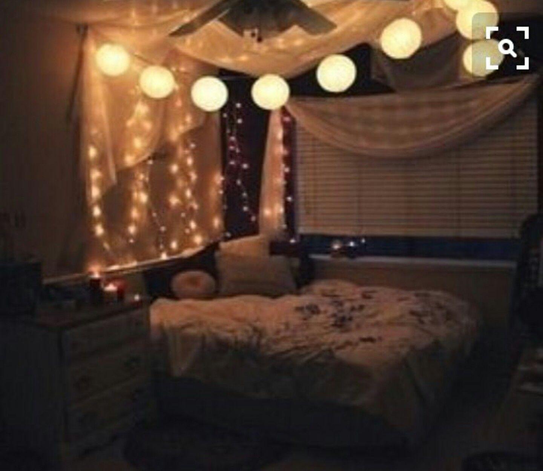 Weihnachtsbeleuchtung Im Schlafzimmer, Weiße Weihnachtsbeleuchtung, Tumblr  Zimmer