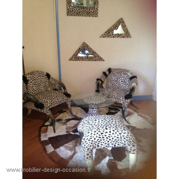 fauteuil africain Petit salon africain en cornes de zebu