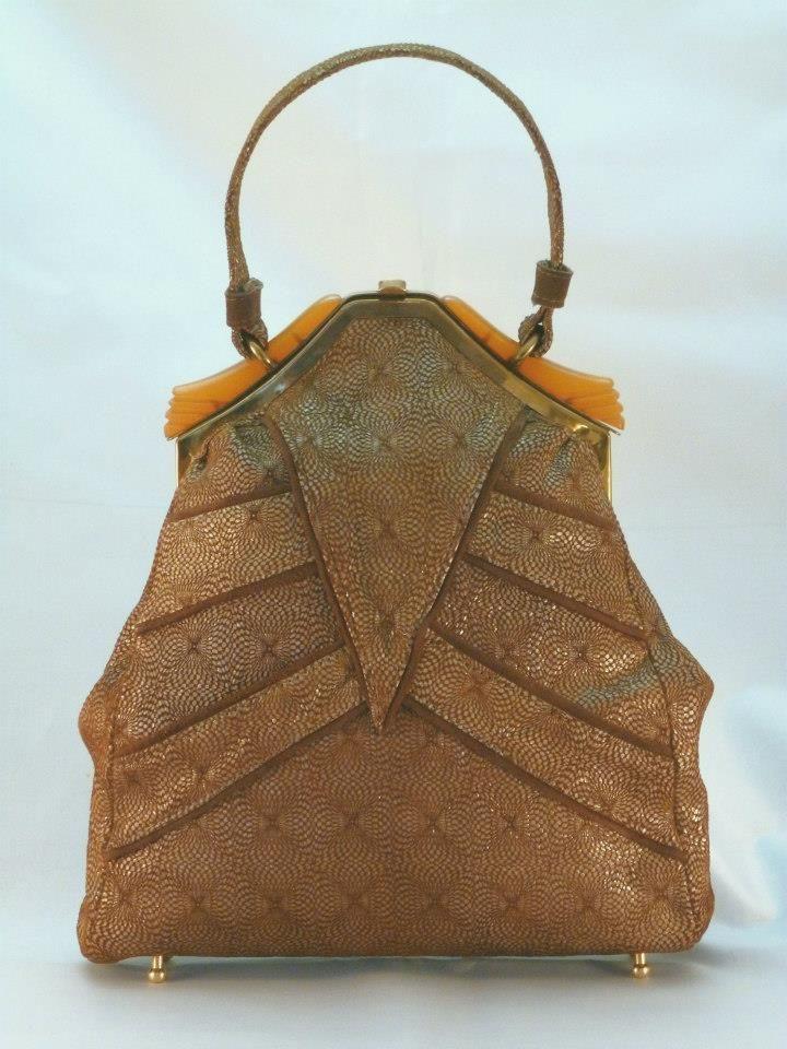 Art Deco Handbag Made By Karina Hesketh Using A Vintage Bag Frame Karinasbags Co Uk