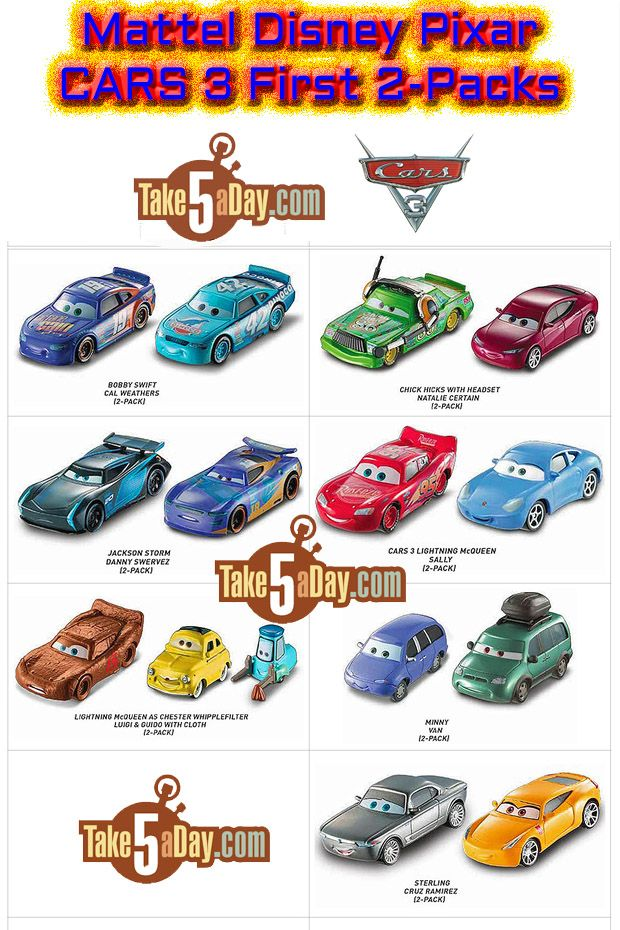 Mattel Disney Pixar Cars 3 2 Pack Diecasts Are Twice As Nice