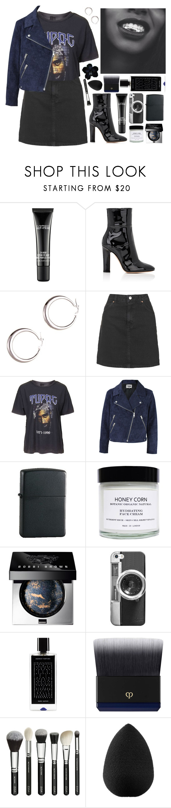 """2pac"" by s-ensible ❤ liked on Polyvore featuring MAC Cosmetics, Gianvito Rossi, Topshop, Acne Studios, Zippo, Honey Corn, Bobbi Brown Cosmetics, Casetify, Agonist and Clé de Peau Beauté"