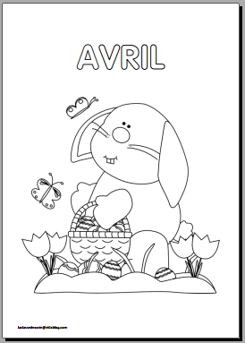 Coloriages mois de l 39 ann e en maternelle a t l charger et - Coloriage avril ...