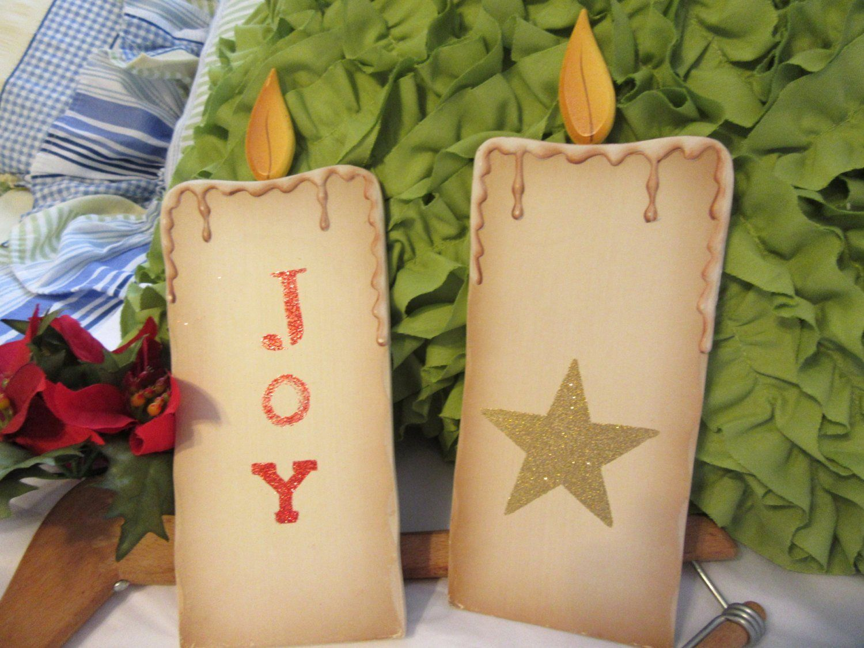 Wall Art Wooden Candle Christmas #vintagechristmascandles ...
