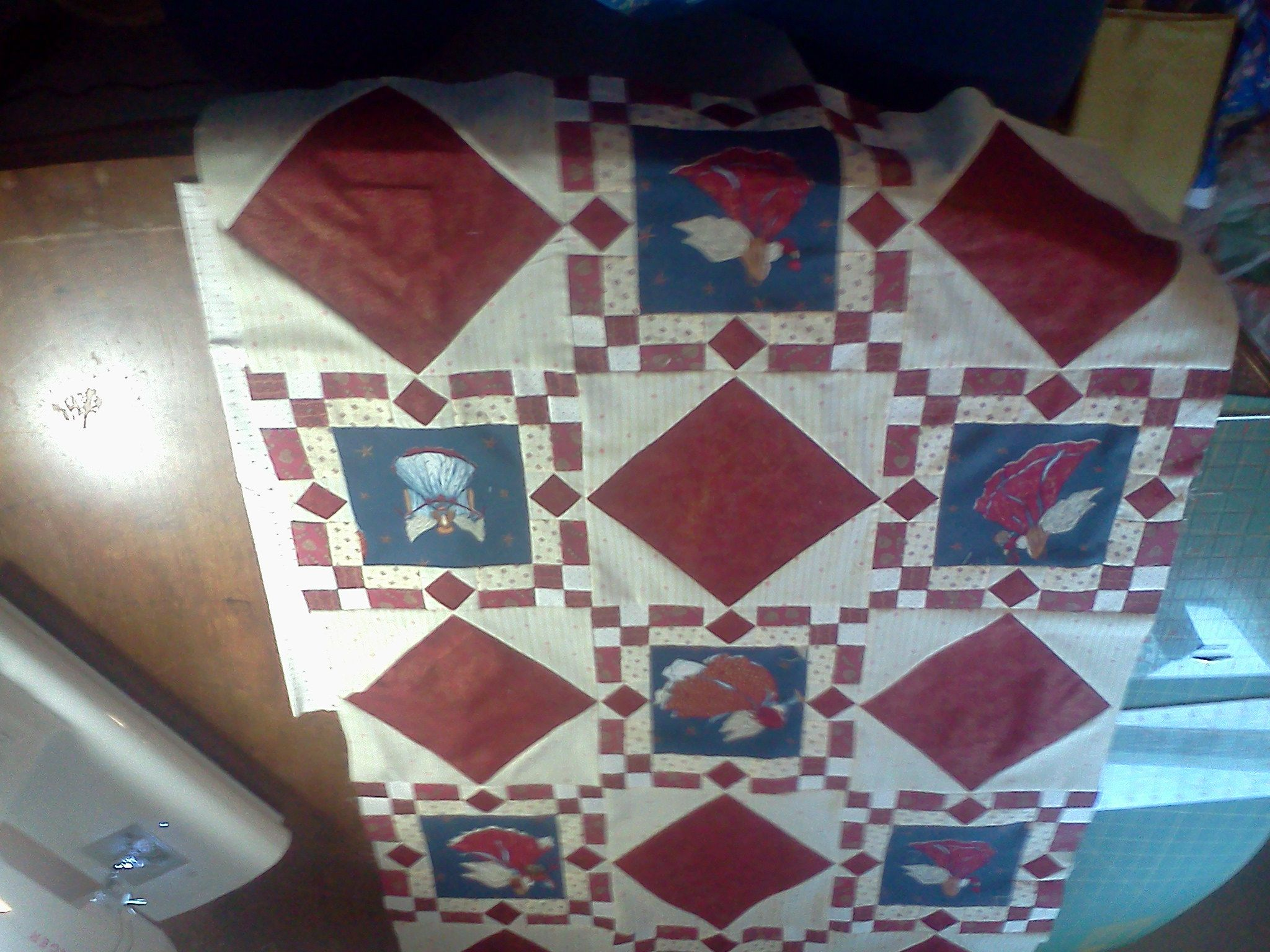 Angel quilt for my husband. He requested it. He loves Angels.