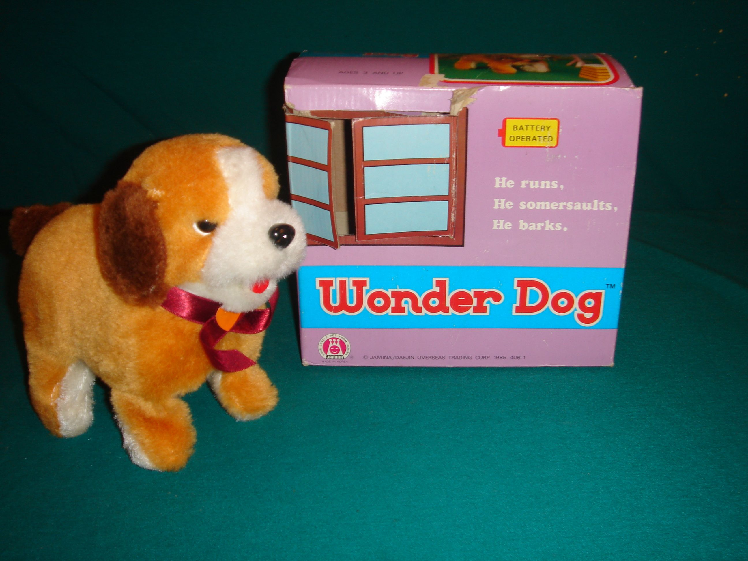 Vintage Barking Walking Flipping Wonder Dog Vintage Toys
