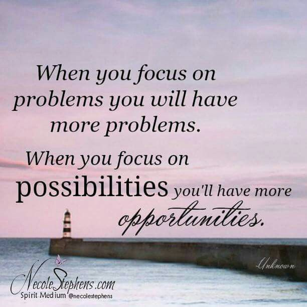 I will now focus on my possibilities! ♡