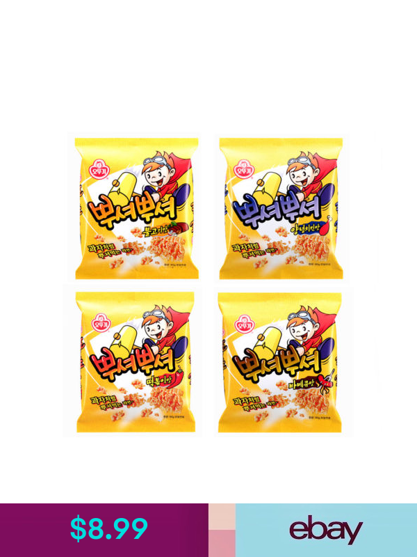 Korean Noodle Shape Snack PPUSHU PPUSHU Bulgogi, Chicken ...