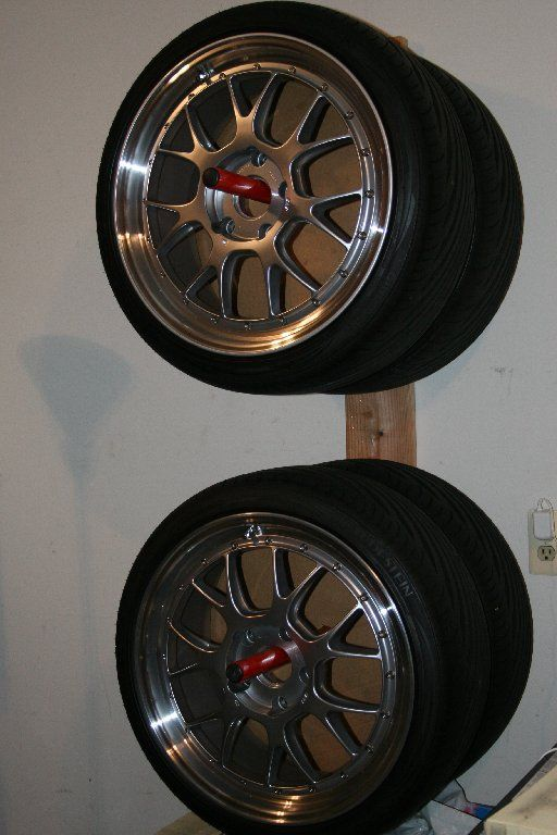 Wheel/Tire storage | Garage Workshop | Pinterest | Garage ...