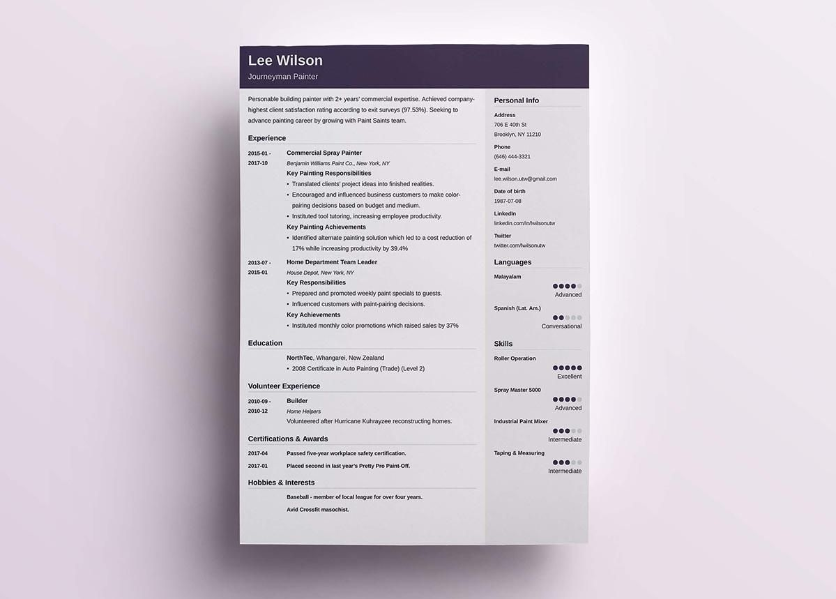 Cubic S One Of Ours A Clean Elegant Take On The Modern Resume Template The Top Header Is Res Resume Template Examples Best Resume Template Resume Templates