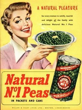 1950's Tinned Marrowfat Peas Advertisement Poster A3 / A2