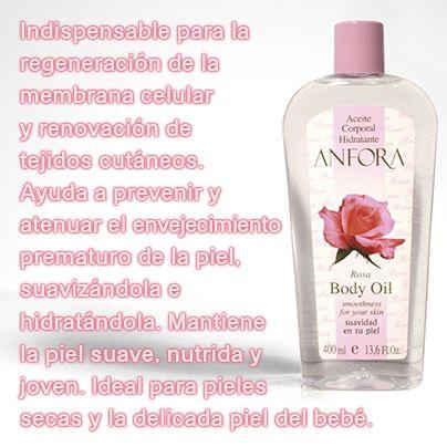 Aceite Corporal Anfora Rosa Indispensable Para La Regeneracion De