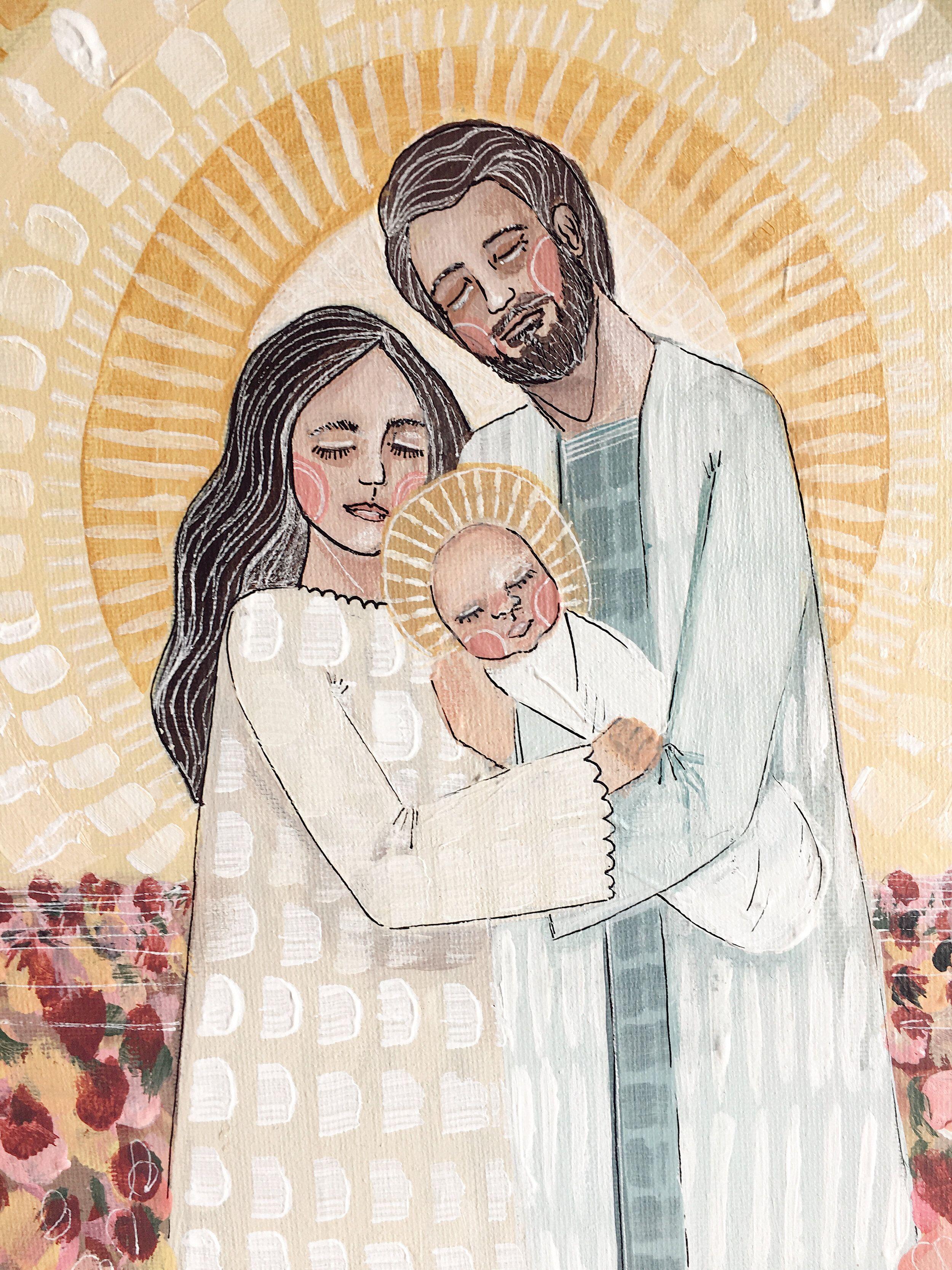 Heavenly Parents Heavenly Mother Beloved Son; Jesus Christ LDS art
