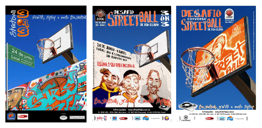3on3 Streetball Posters for Playground Marketing SP