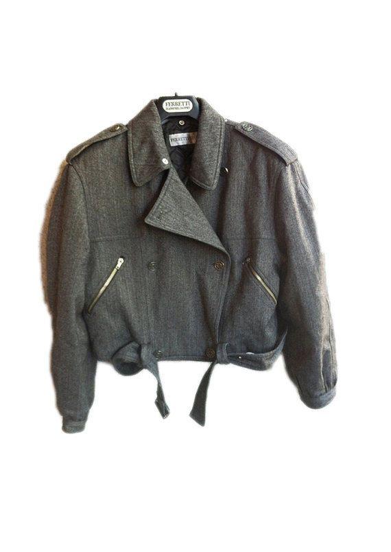 80s Padded Bomber  Woman  Jacket Alberta Ferretti  Fashion Mud   Italian Brand S