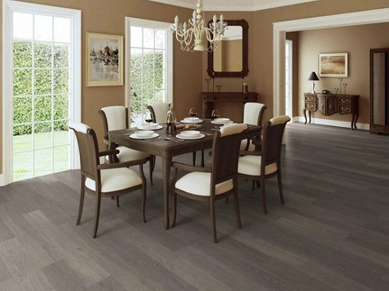 Dark Gray Hardwood Floors Dining Room Interior Design Ideas Wooden Furniture
