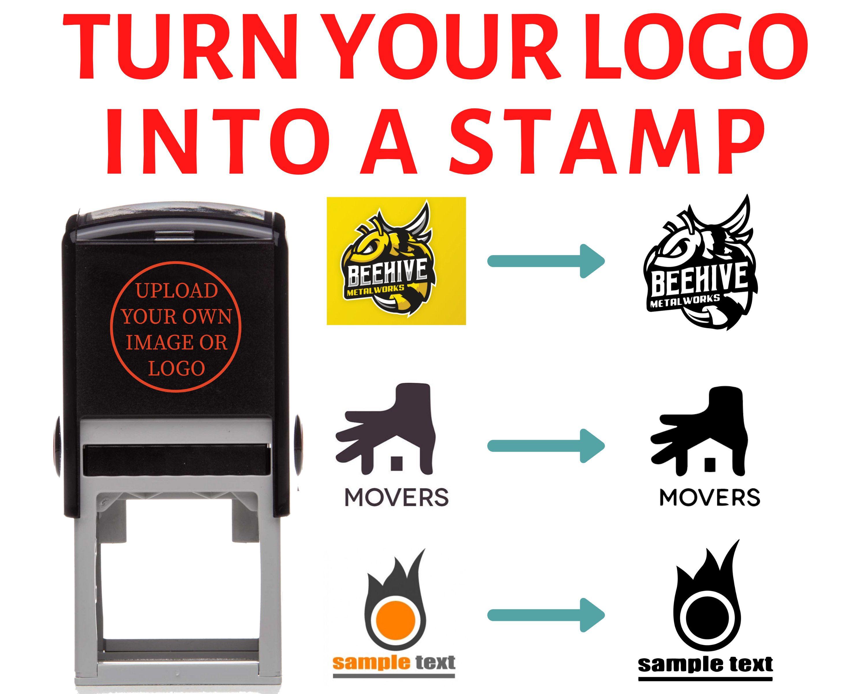 Logo Stamp Business Logo Stamp Custom Rubber Stamps Etsy