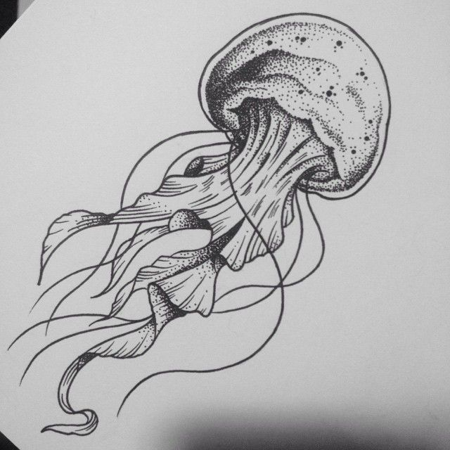 Jellyfish . #tattoo #tattoo flash #traditional tattoo # ...