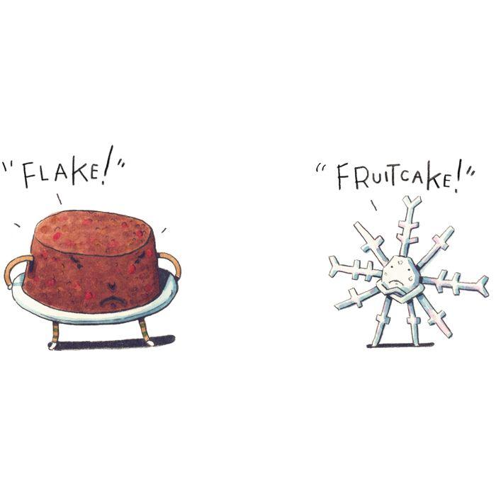 #RickPeterson #LindgrenSmith #DailyDoseofHoliday #fruitcake #flake #illustration #christmas #snow