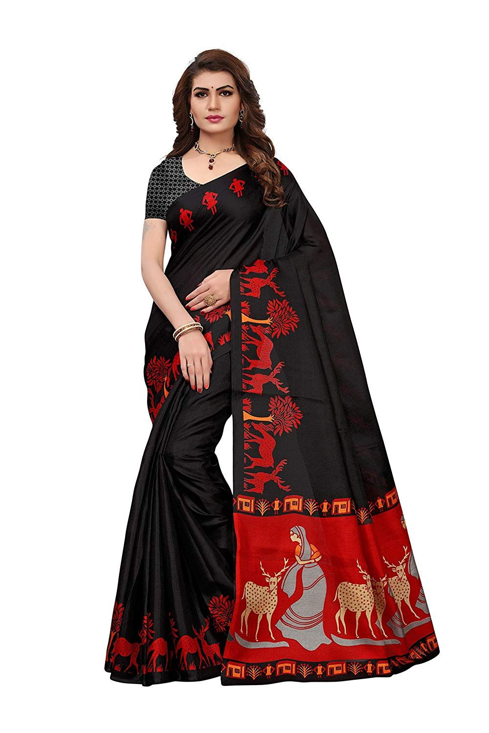 cf67a1cc44 Nardaa Online Store In India. Anni Designer Women's Khadi Mix Fabric Saree  With Blouse