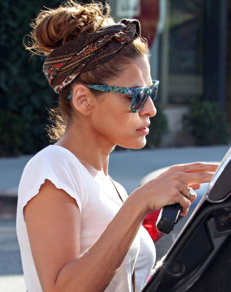 Best Eva Mendes Love The Scarf Turned Headband I Thought