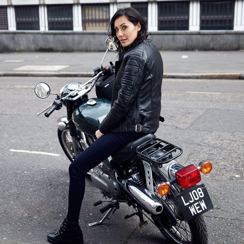 Roberta ladies leather biker jacket Cafe racer girl