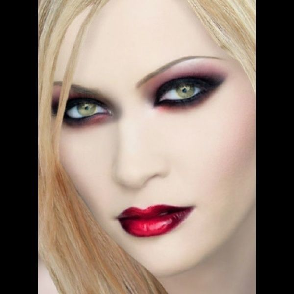 """Virtual Hair Makeover: """"Blonde Vampire"""" Created Using TAAZ Virtual Makeover. Try"""