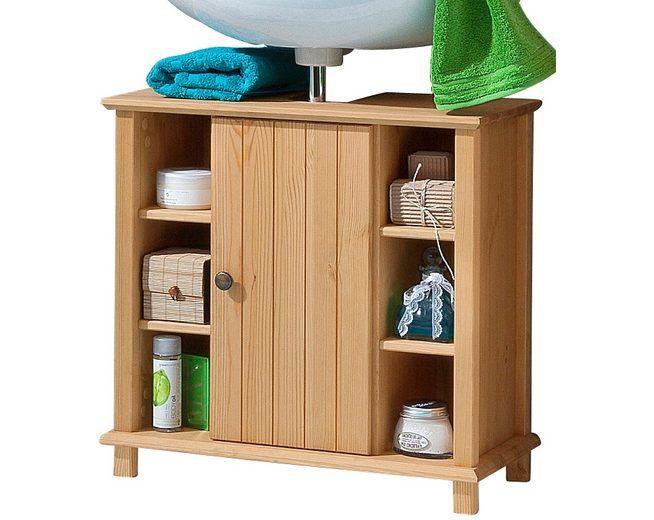 Welltime Waschbeckenunterschrank »Vili«, Landhaus-Look, mit 6 Fächern