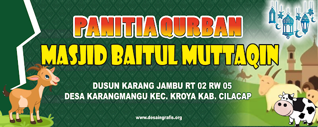 Desain Banner Panitia Qurban Idul Adha Cdr Desain Banner Desain Pedesaan