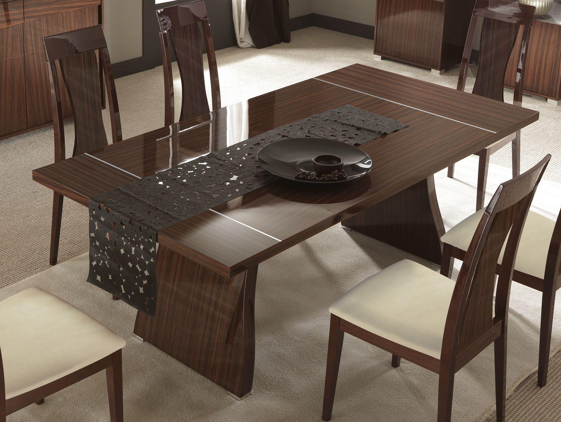 Comedor comedores 2 bases rectangulares dining table - Disenos de comedores de madera ...