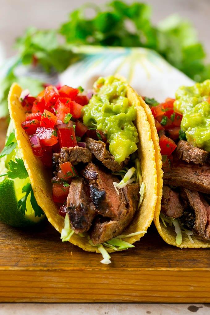 Carne Asada Tacos Recipe   Beef Tacos   Steak Tacos   Carne Asada #steak #meat #beef #tacos #avocado #dinner #dinneratthezoo #asadatacos