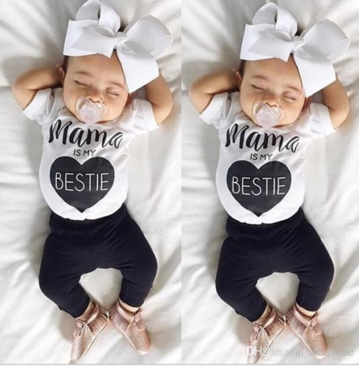 Unique Baby Clothes For Girls Interesting 2017 30 Style Baby Ins Fox Stripe Letter Suits Kids Toddler Infant