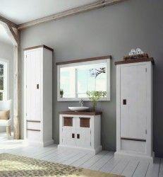 Schon Loft Badmöbel✓ Landhausstil ✓ Akazie Massiv In Weiß ✓ Set ✓ Sofort  Lieberbar ✓ Kostenloser Versand ✓ ☎ 05253 3298 ✚✚✚