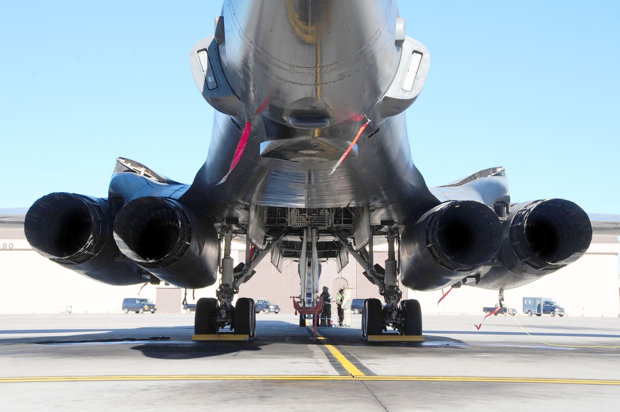 Rear View of B1B Lancer Something new on the aft