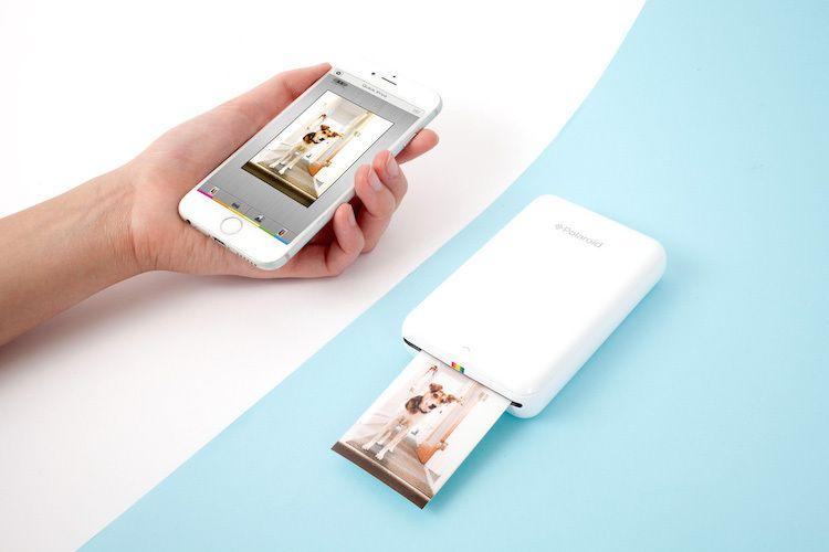 The Polaroid Zip A Phone Sized Portable Printer That Does Not Use Ink Or Toner Mobile Printer Mini Printer Printer