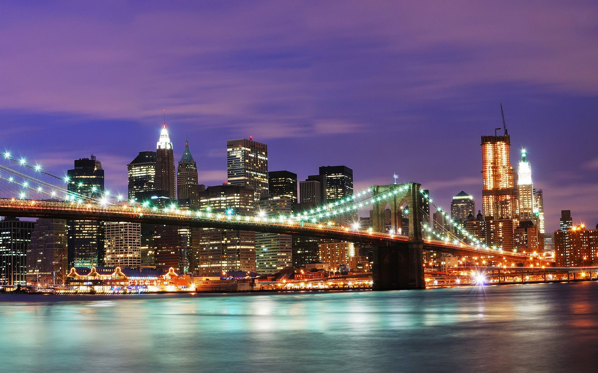 Обои Brooklyn bridge, new york, бруклинский мост. Города foto 17
