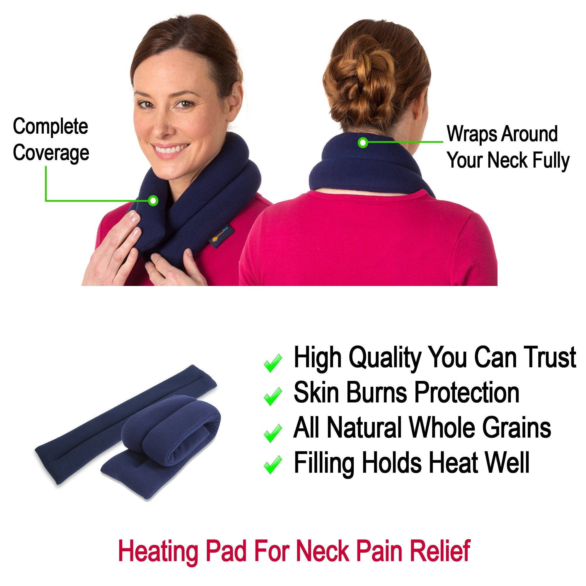 Microwave Heating Pad For Neck Pain Relief Extralong Flax Seeds Bean Bag Muscle Hot Beanbagideas