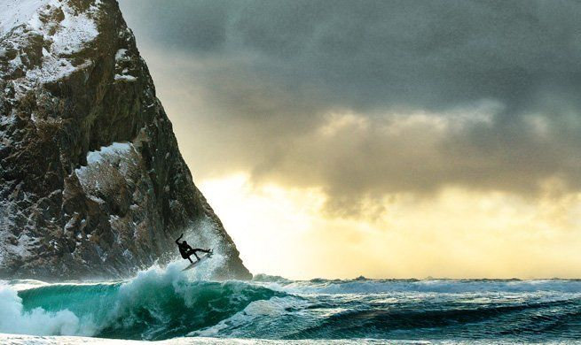 Surfing in Lofoten