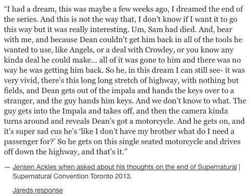This is so sad.. :/ #SPNfamily